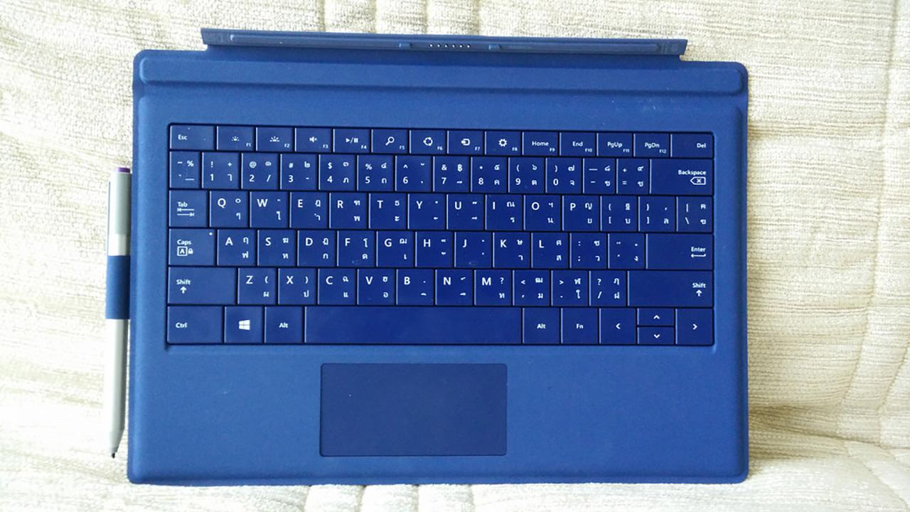 Type cover ของ Microsoft Surface Pro 3