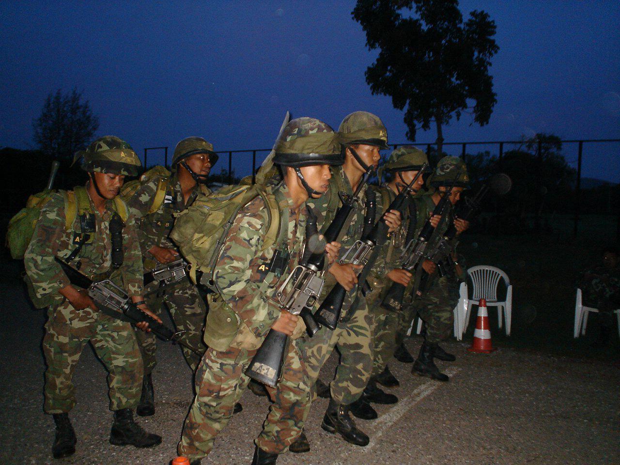 การฝึกใน หลักสูตรจู่โจม RANGER รุ่นที่ 86