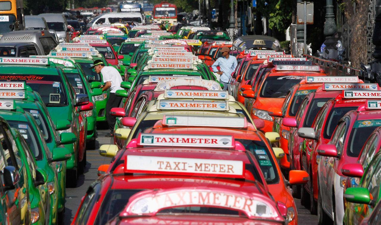 แท็กซี่ไทยหลากหลายสี