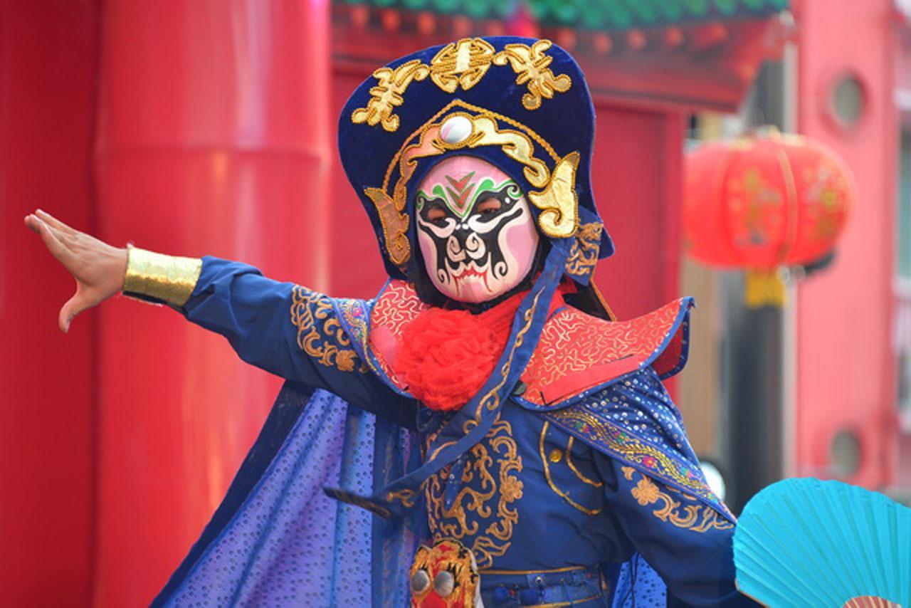 การแสดงเปลี่ยนหน้ากาก จากจีน