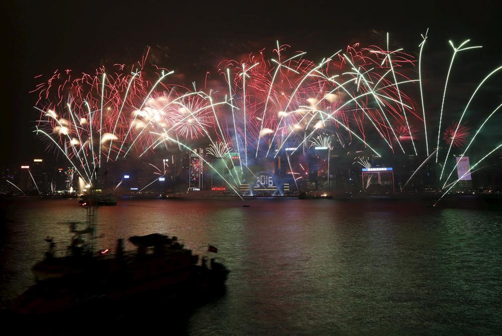 งานแสดงพลุที่ฮ่องกงปีนี้ จัดขึ้นภายใต้ธีม 'ความสนุกและความรัก' (ภาพ: REUTERS)