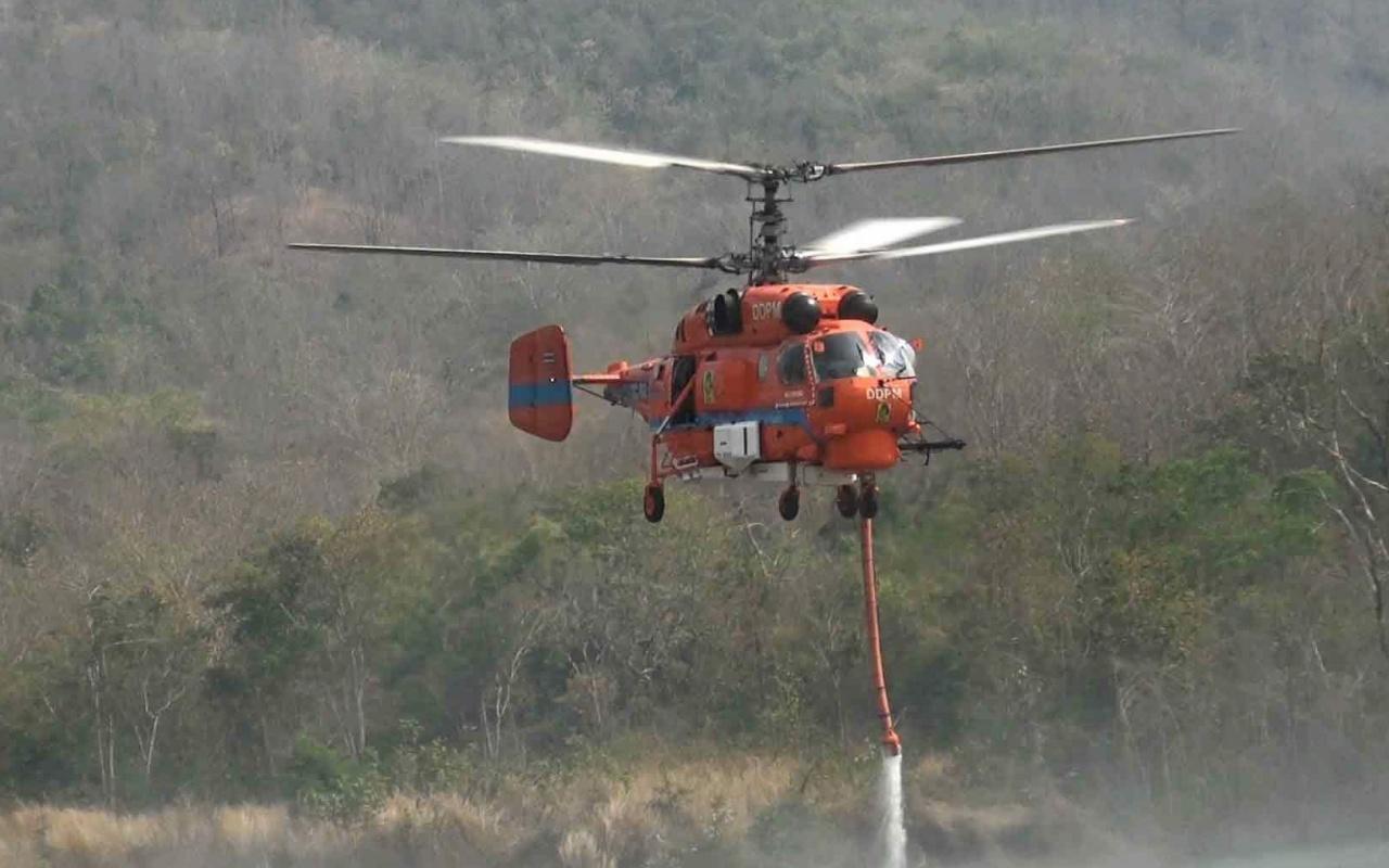 เฮลิคอปเตอร์เฉพาะกิจดับเพลิงแบบ KA-32 ของ ปภ.