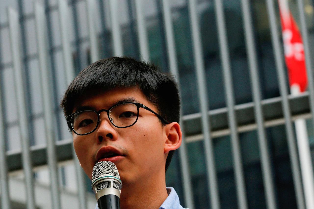 โจชัว หว่อง แกนนำเรียกร้องประชาธิปไตยในฮ่องกง