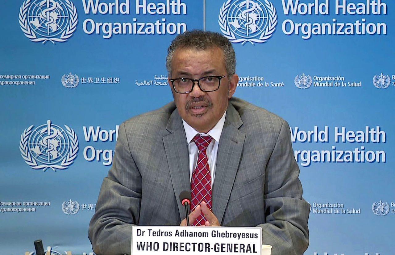 ดร.เทดรอส อาดานอม เกเบรเยซุส ผู้อำนวยการใหญ่ขององค์การอนามัยโลก