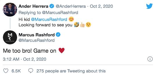 อันเดร์ เอร์เรรา ส่งสารท้าทาย มาร์คัส แรชฟอร์ด ทางทวิตเตอร์