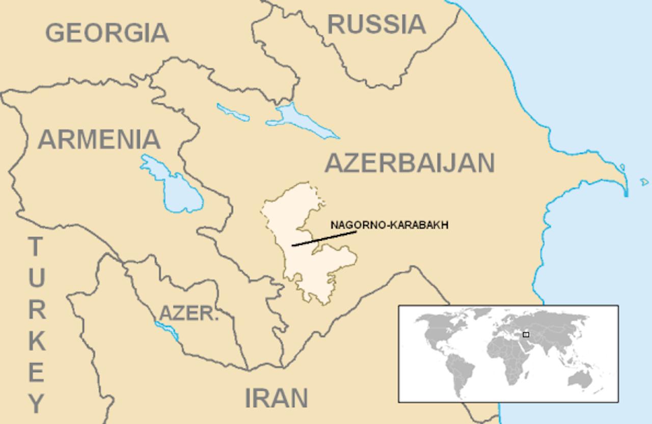 ภูมิภาค นากอร์โน-คาราบัค อยู่ในอาเซอร์ไบจาน แต่ประชากรส่วนใหญ่กลับเป็นชาวอาร์เมเนีย