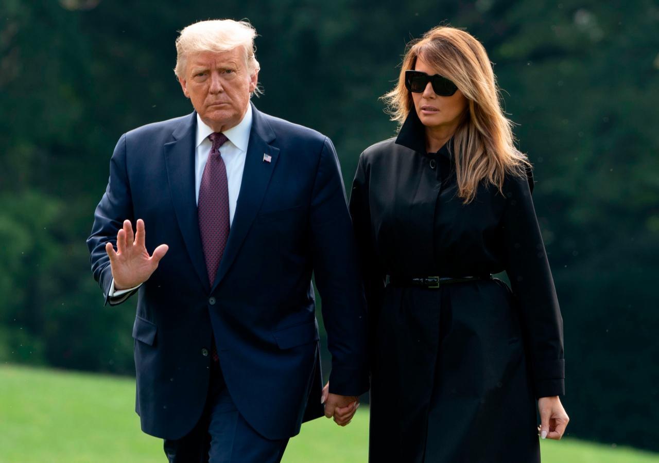 ประธานาธิบดีโดนัลด์ ทรัมป์ และเมลาเนีย ทรัมป์ สุภาพสตรีหมายเลขหนึ่งแห่งสหรัฐอเมริกา