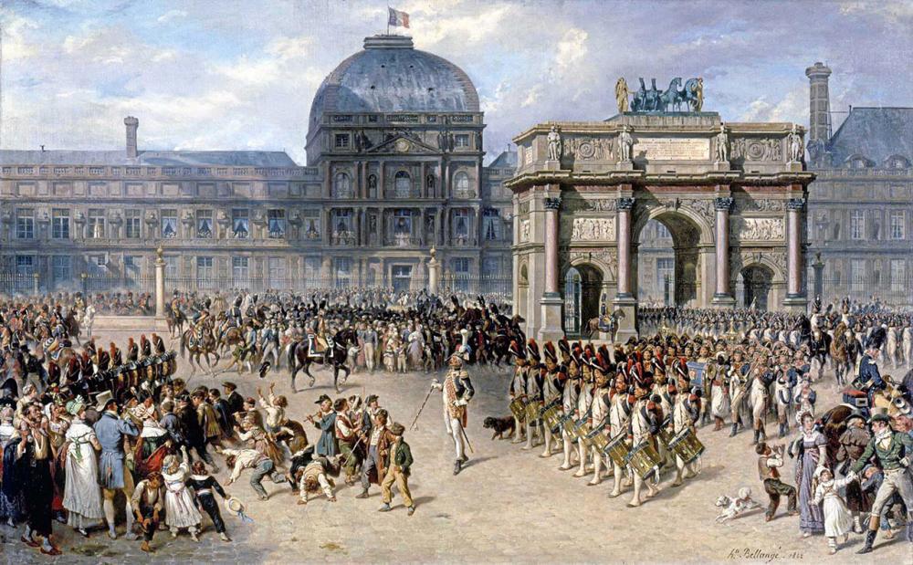 พระราชวังตุยเลอรีส์ ในปี 1810.