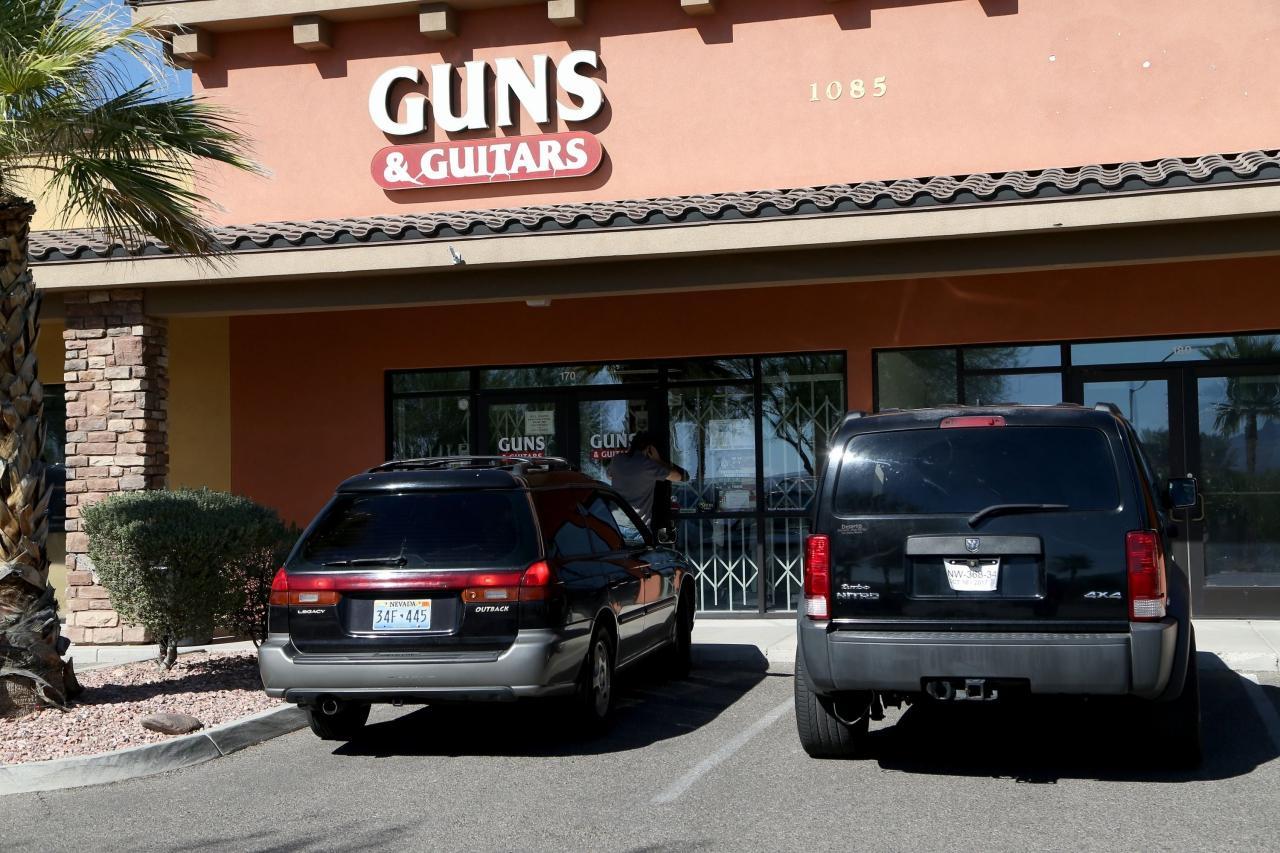 ร้านขายปืน Guns& Guitars ในเมืองเมสคีต