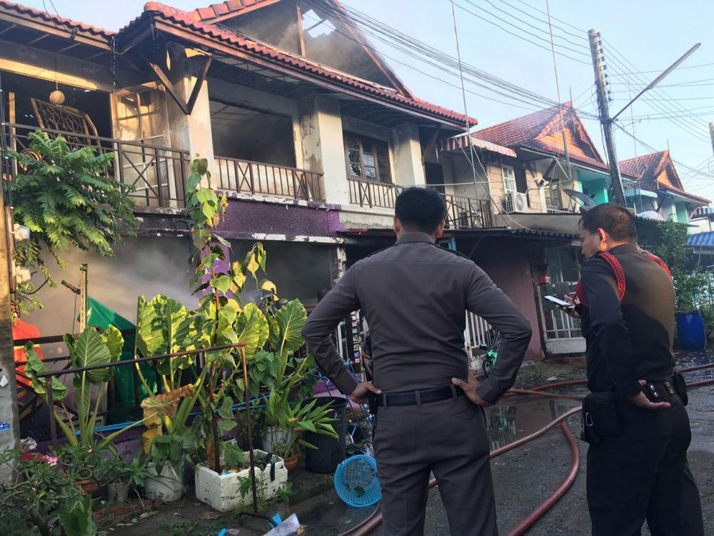 บ้านที่ถูกเพลิงไหม้คลอก 4 ศพ