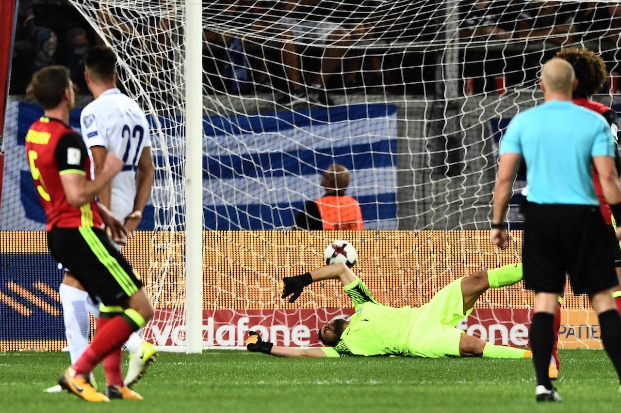 แยน แฟร์ตองเกน ซัดไกลเข้าประตูไปอย่างสวยงาม เบลเยียมนำ 1-0