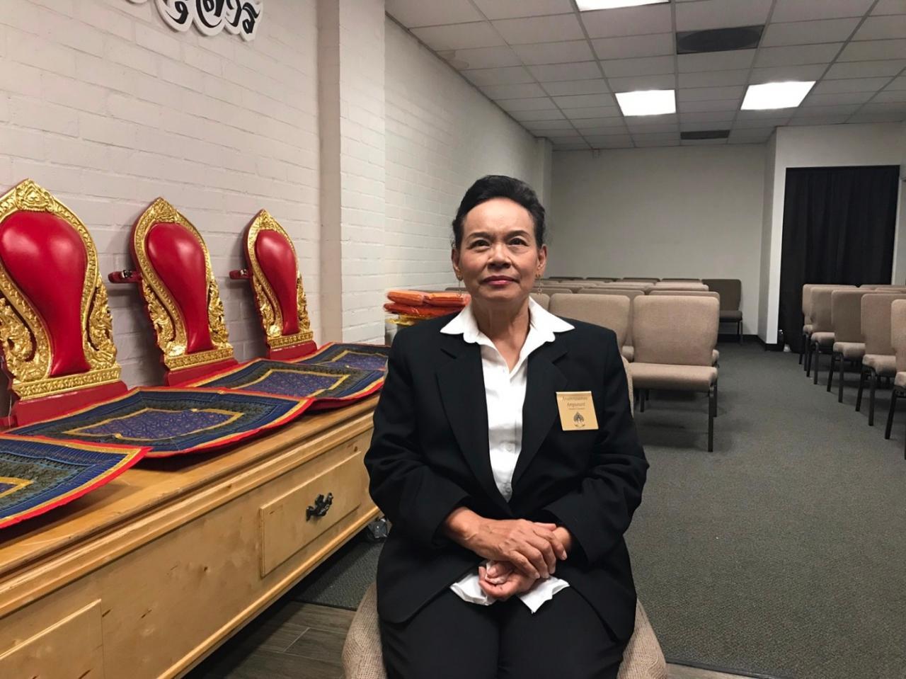 นางอรุณรัศมี อัมพุนันทน์ ผู้จัดการสุสานไทย