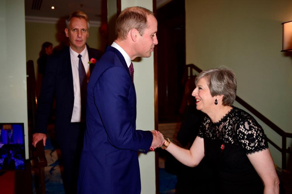 นายกรัฐมนตรีเธเรซา เมย์ แห่งอังกฤษ รับเสด็จเจ้าชายวิลเลียม เสด็จพระราชดำเนินไปทรงเป็นประธานในงาน