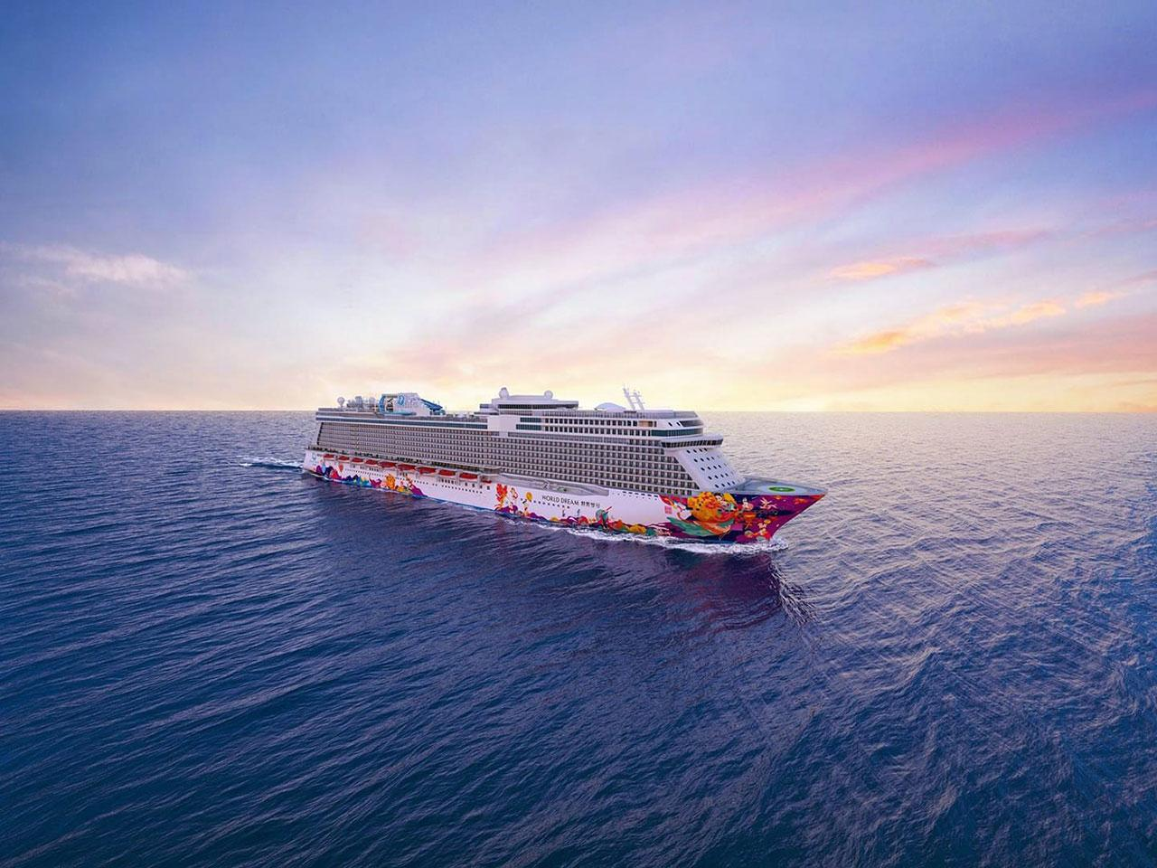 เรือสำราญ World Dream เรือสำราญลำใหม่ ในเครือ Genting Cruise Lines