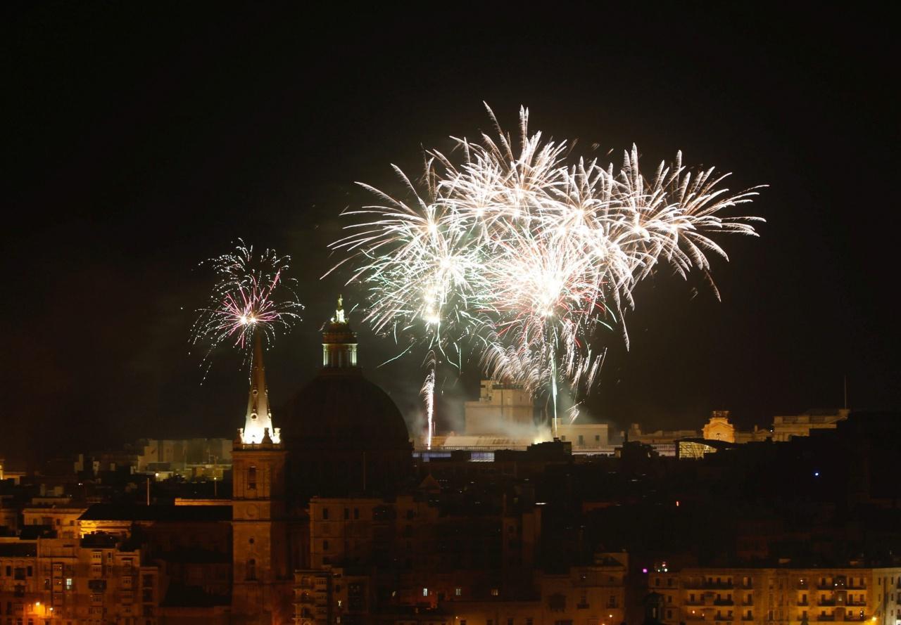 งานฉลองปีใหม่ที่เมือง วัลเลตตา ประเทศมอลตา