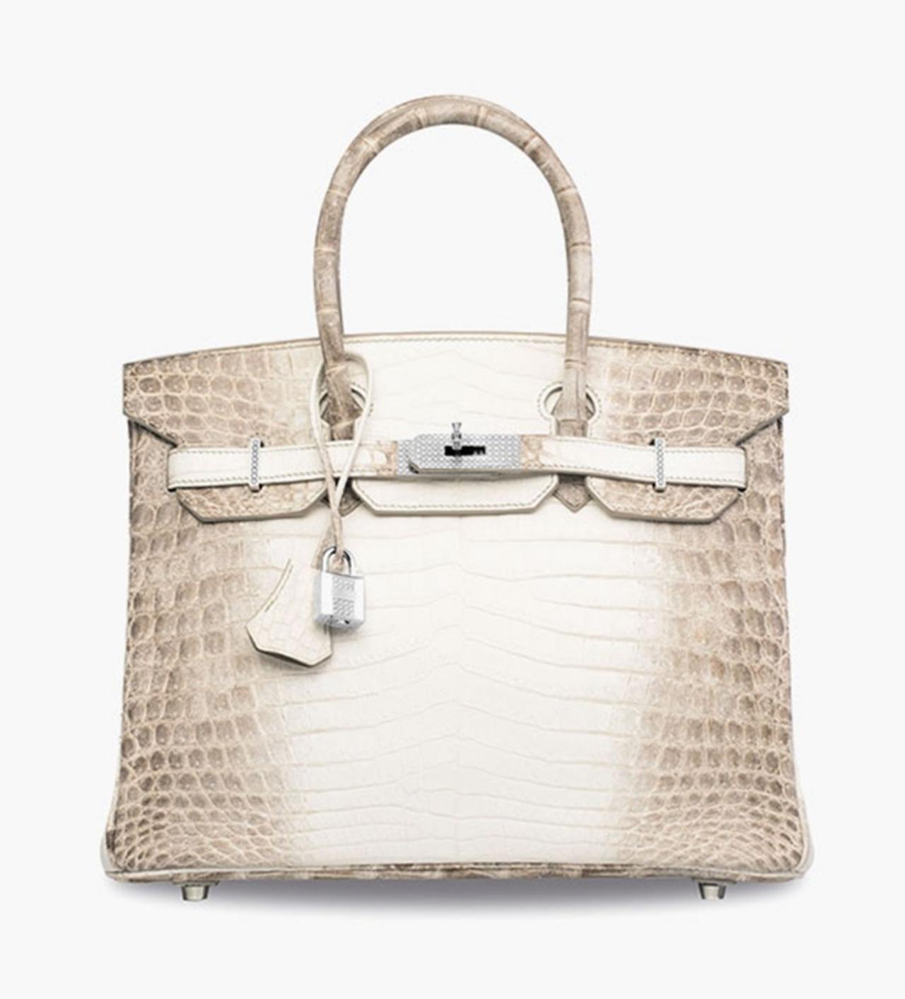 Hermès matte white Himalaya Niloticus crocodile diamond Birkin