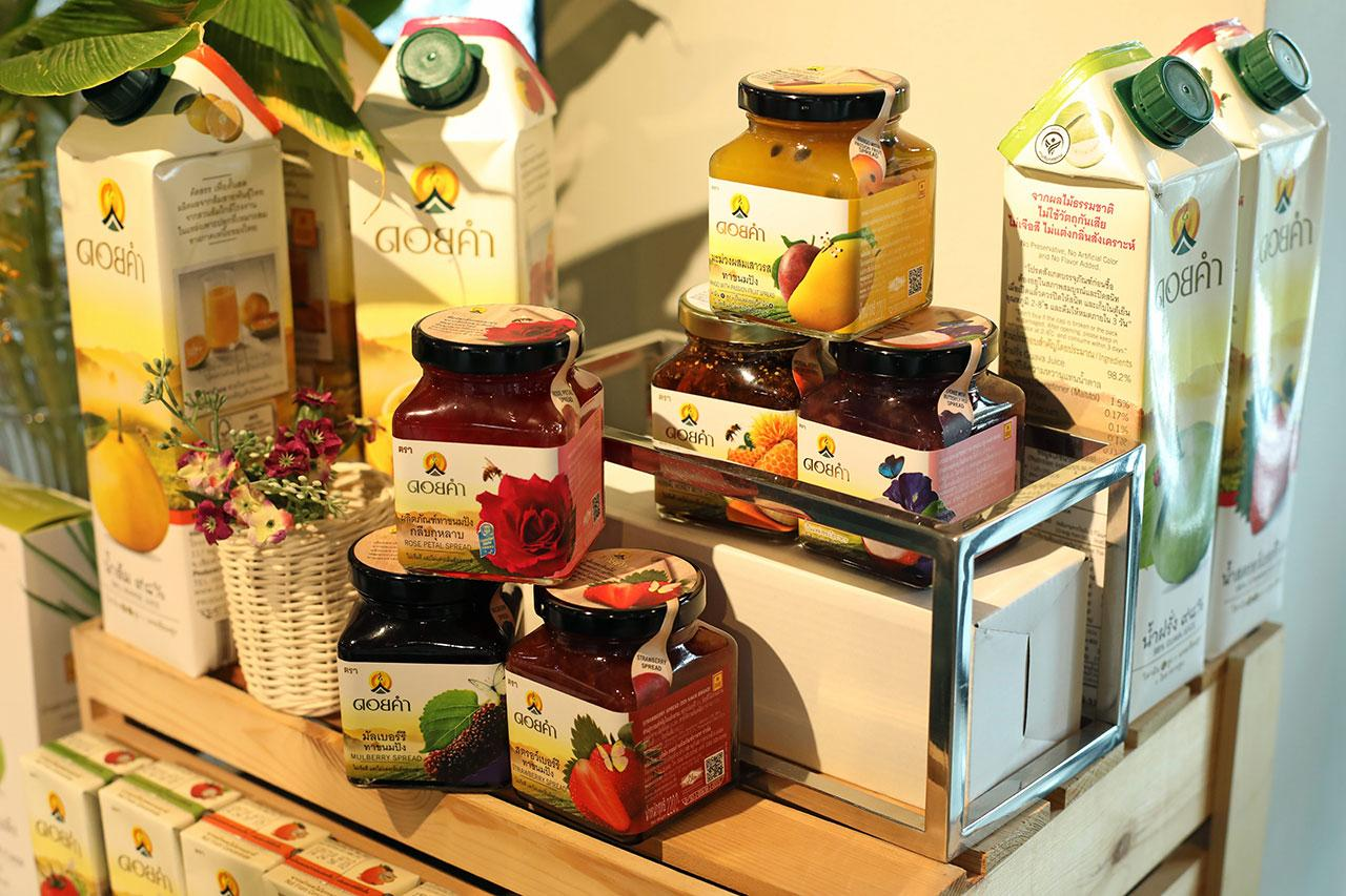 ผลิตภัณฑ์ทาขนมปัง และน้ำผลไม้.