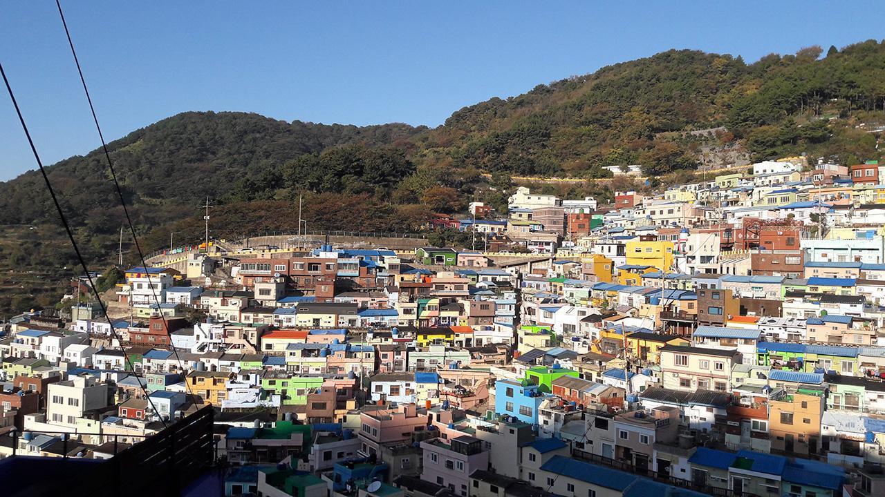 หมู่บ้านวัฒนธรรมกัมชอนหรือซานโตรินีเกาหลี.
