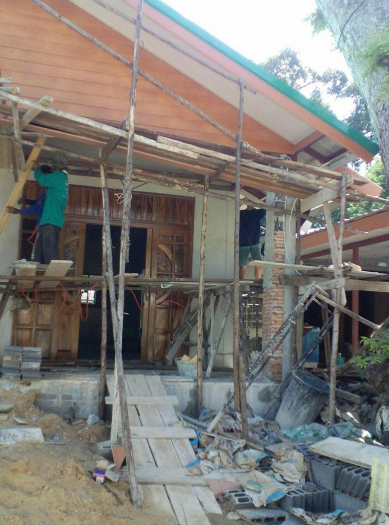 บ้านใหม่ที่ยังสร้างไม่เสร็จ