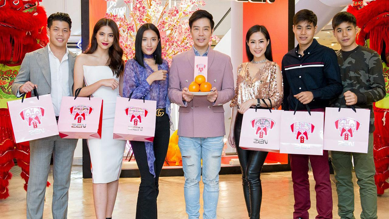 แจกอั่งเปา ฌาน ชานนท์ จัดงาน ZEN Chinese New Year & Valentine's Celebrations 2018 เทศกาลเลือกช็อปรับอั่งเปาส่วนลดแทนเงินสด โดยมี ปาวา นาคาศัย, ชมพูนุท โรจน์ศิริรัตน์ และ ศดานันท์ บาเล็นซิเอก้า มาร่วมงานด้วย ที่ห้างสรรพสินค้าเซน วันก่อน.