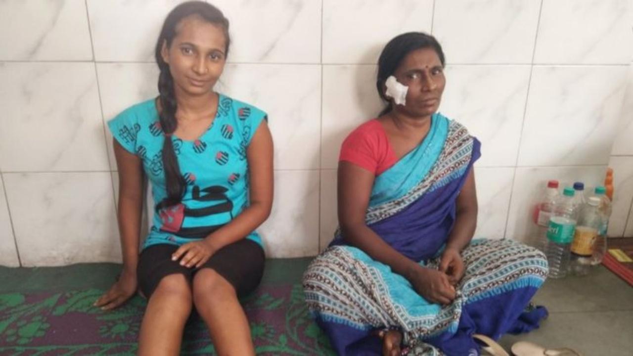 ภาพถ่าย 10 วันหลังเกิดเหตุ บาดแผลของ 2 แม่ลูกเกือบหายดีแล้ว (ภาพจาก BBC / SANJAY TIWARI)