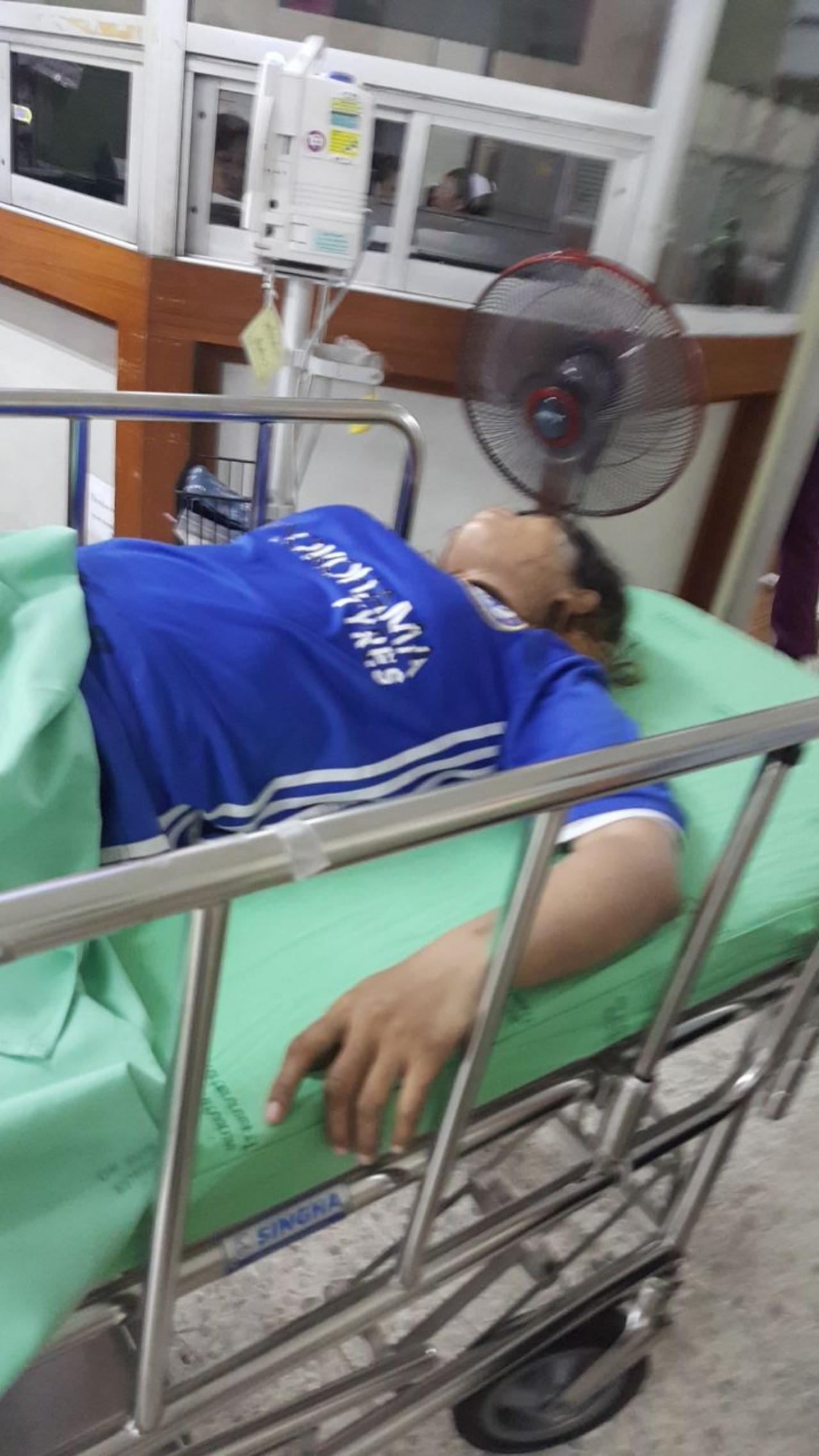 สาวกัมพูชาถึงโรงพยาบาลก็ถูกพาเข้าห้องฉุกเฉินทันที