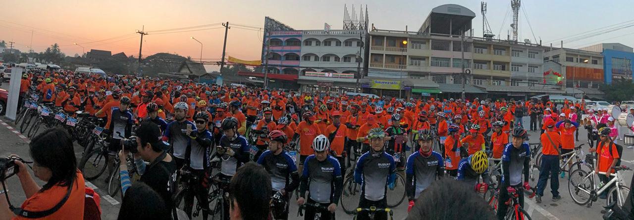 ขบวนจักรยานมิตรภาพไทย-เมียนมา.