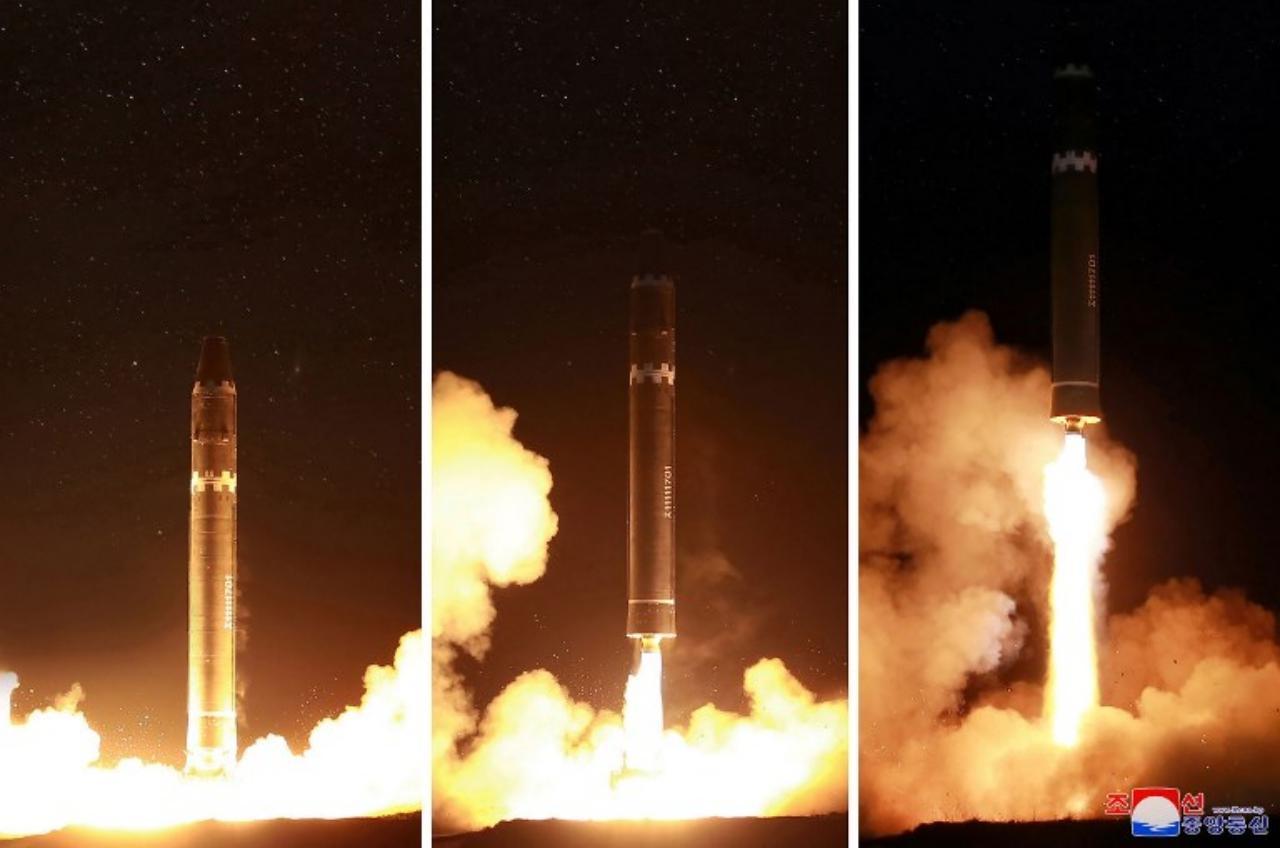 เกาหลีเหนือเผยแพร่ภาพการทดสอบยิงขีปนาวุธเมื่อพ.ย.2560