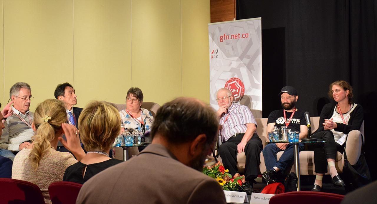 บรรยากาศการประชุมโต๊ะเล็กของเวที GFN ที่กรุงวอร์ซอ ประเทศโปแลนด์ ช่วงวันที่ 14–16 มิ.ย.