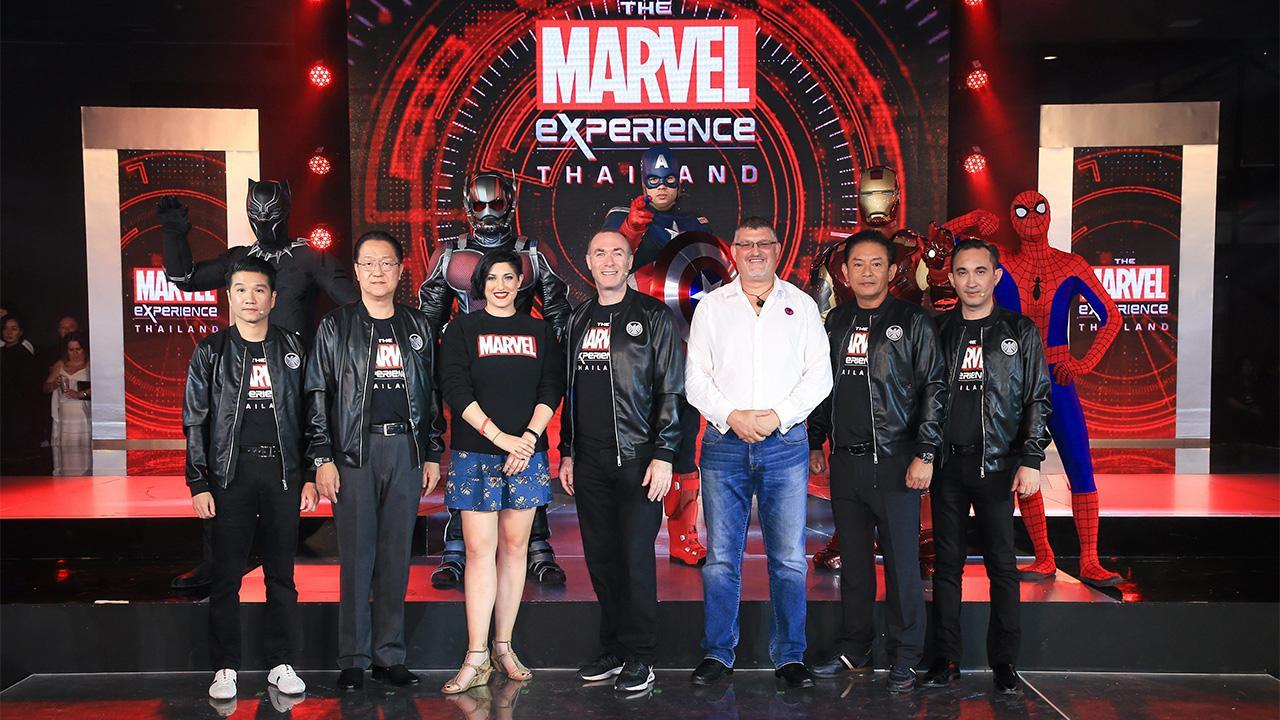 ปักหมุด : นพปฎล เจสัน จิรสันติ์ ประธานเจ้าหน้าที่บริหารร่วม บริษัท ฮีโร่ เอ็กซ์พีเรียนซ์ จำกัด จัดงานเปิดตัว The Marvel Experience Thailand ศูนย์บัญชาการมาร์เวลฮีโร่ โดยมี ณภัทร เสียงสมบุญ, ฌอห์ณ จินดาโชติ และ สน-ยุกต์ ส่งไพศาล มาร่วมงานในฐานะมาร์เวลแฟน ที่ศูนย์การค้าเมกาบางนา วันก่อน.