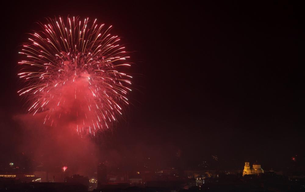 การแสดงดอกไม้ไฟฉลองปีใหม่ที่กรุงโซเฟีย ของบัลแกเรีย