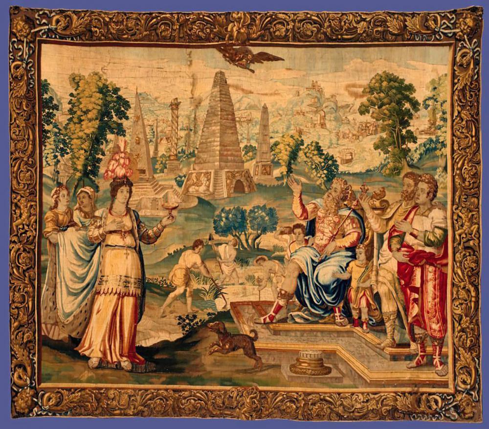 โรโดพิสกับกษัตริย์พซัมเมติคุส จิตรกรรมยุคคริสต์ศตวรรษที่ 17.