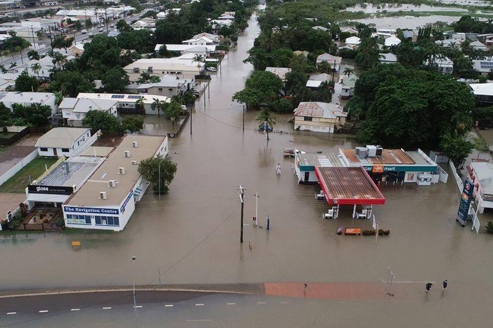 สภาพน้ำท่วมหนักในเมืองทาวน์สวิลล์ รัฐควีนส์แลนด์ ในประเทศออสเตรเลีย