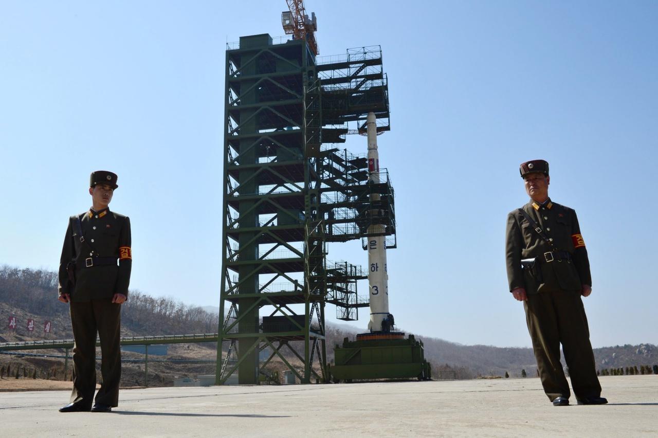 ฐานยิงจรวด ที่ศูนย์โซแฮ ในจังหวัดตงชาง-รี ก่อนเกาหลีเหนือจะเริ่มรื้อเมื่อปีก่อน และกำลังหวนกลับมาสร้างใหม่อีกครั้ง