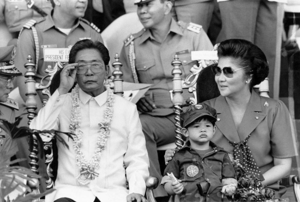 อดีตประธานาธิบดีเฟอร์ดินานด์ มาร์กอส และนางอีเมล มาร์กอส อดีตสุภาพสตรีหมายเลขหนึ่งของฟิลิปปินส์