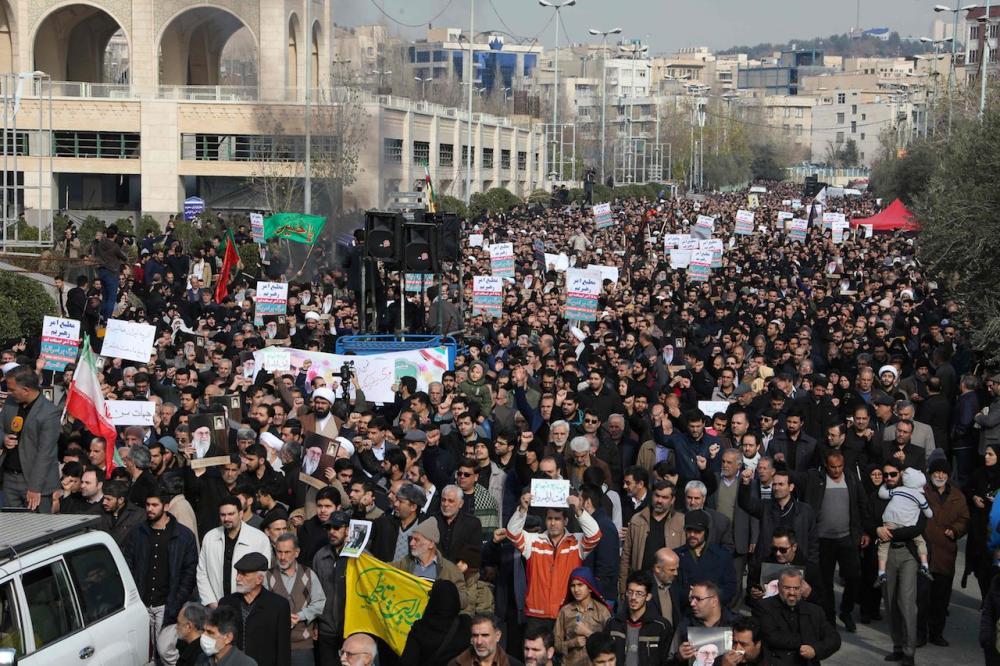 ชาวอิหร่านจำนวนมากออกมาเดินขบวนประท้วงสหรัฐฯ