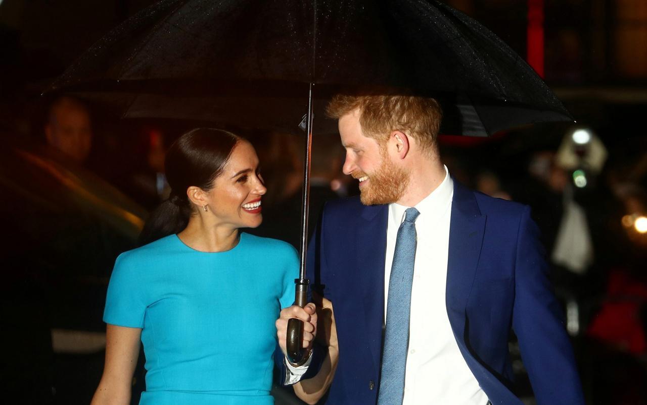 เจ้าชายแฮร์รี่ และเมแกน ควงคู่ออกงานประกาศผลรางวัลEndeavour Fund Awards  ที่ Mansion House ในกรุงลอนดอน เมื่อค่ำวันที่ 5 มี.ค.63