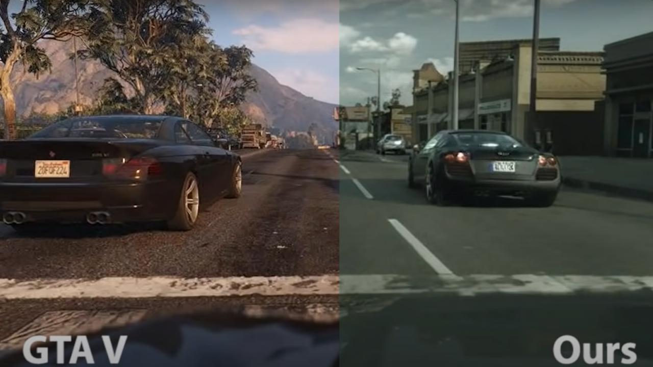 Intel โชว์เหนือใช้แมชชีน เลิร์นนิง เนรมิตภาพจาก GTA V ให้เป็นภาพเสมือนจริง