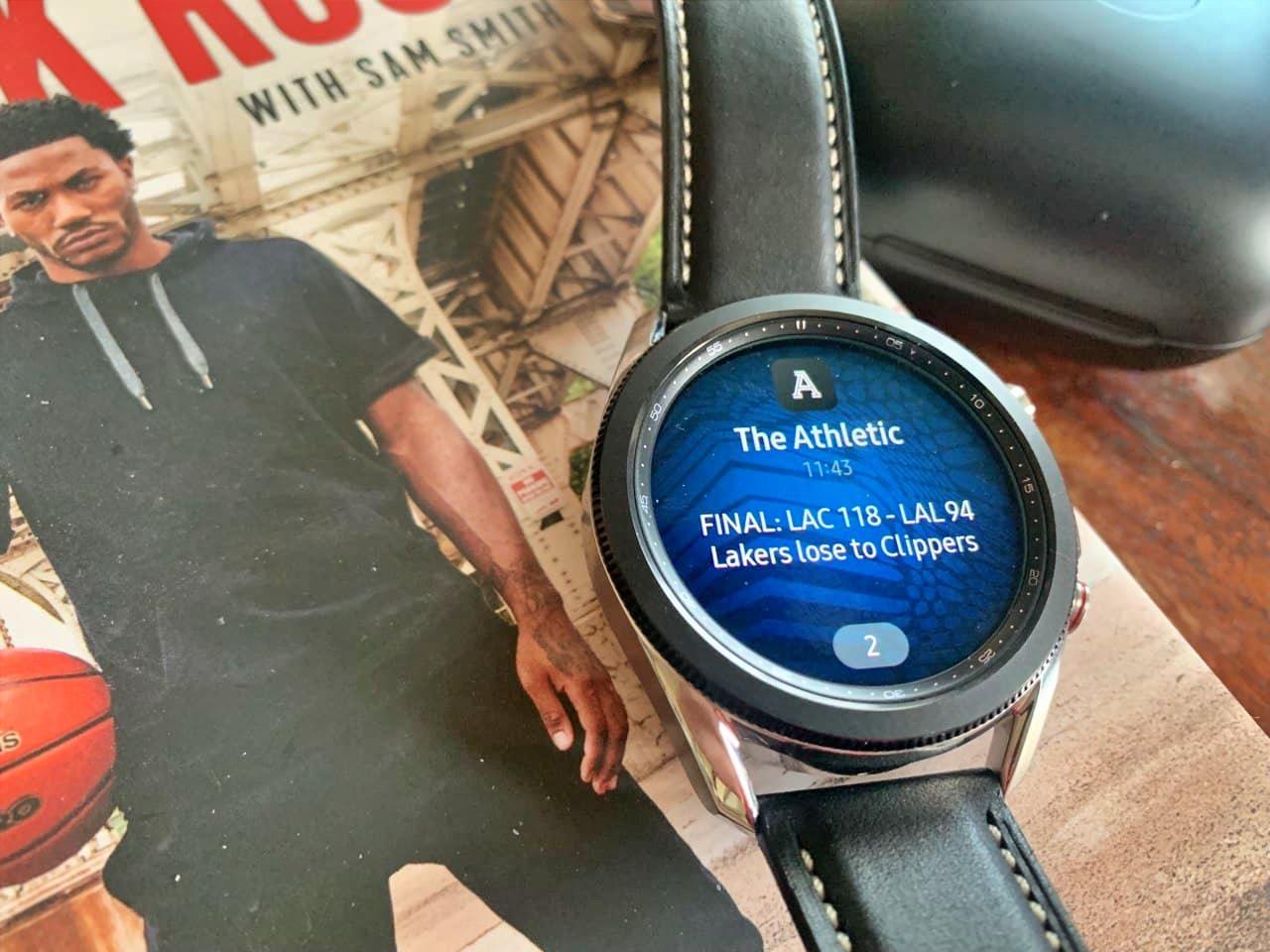 ระบบการแจ้งเตือน Galaxy Watch3 ที่เชื่อมต่อกับ iPhone ดีเลย์ไม่กี่วินาที