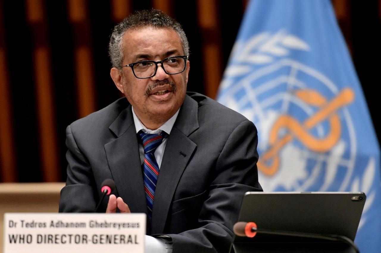 นายเทดรอส อัดฮานอม เกเบรเยซุส ผู้อำนวยการองค์การอนามัยโลก