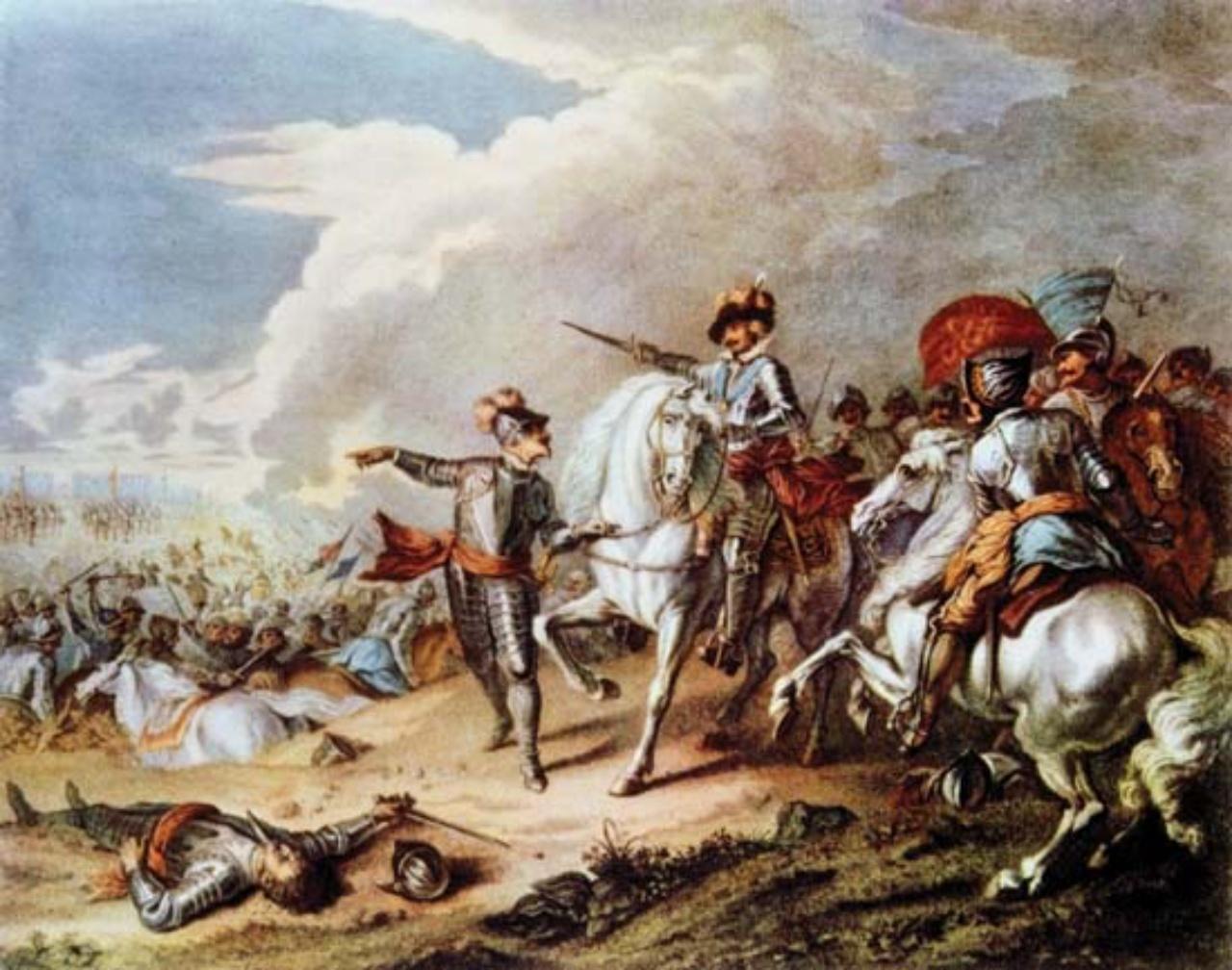 ภาพวาดจำลองสถานการณ์สงครามกลางเมืองอังกฤษ