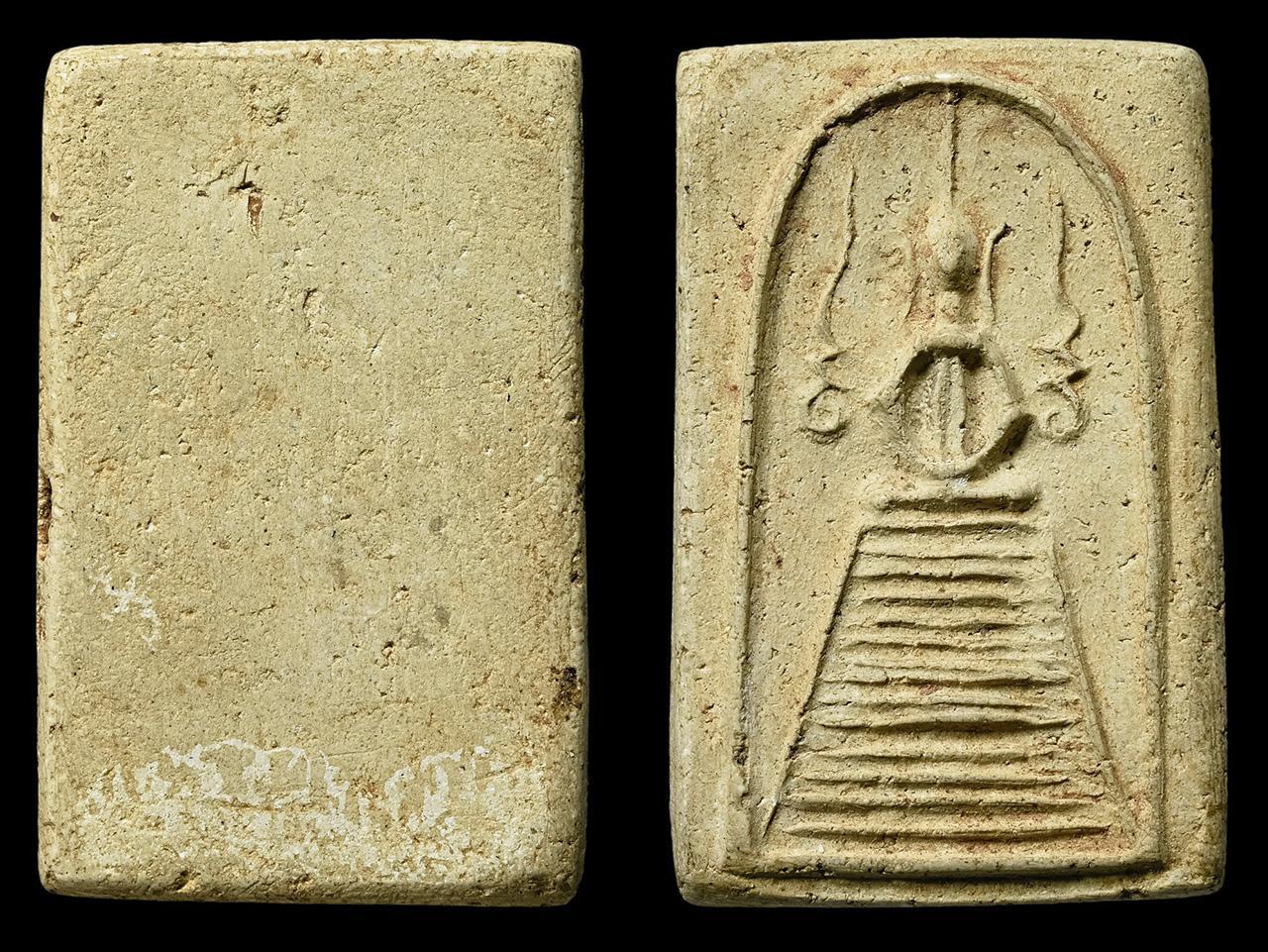 พระสมเด็จ พิมพ์แซยิด แขนหักศอก หลวงปู่ภู วัดอินทรวิหาร ของสถิต ราชบุรี.