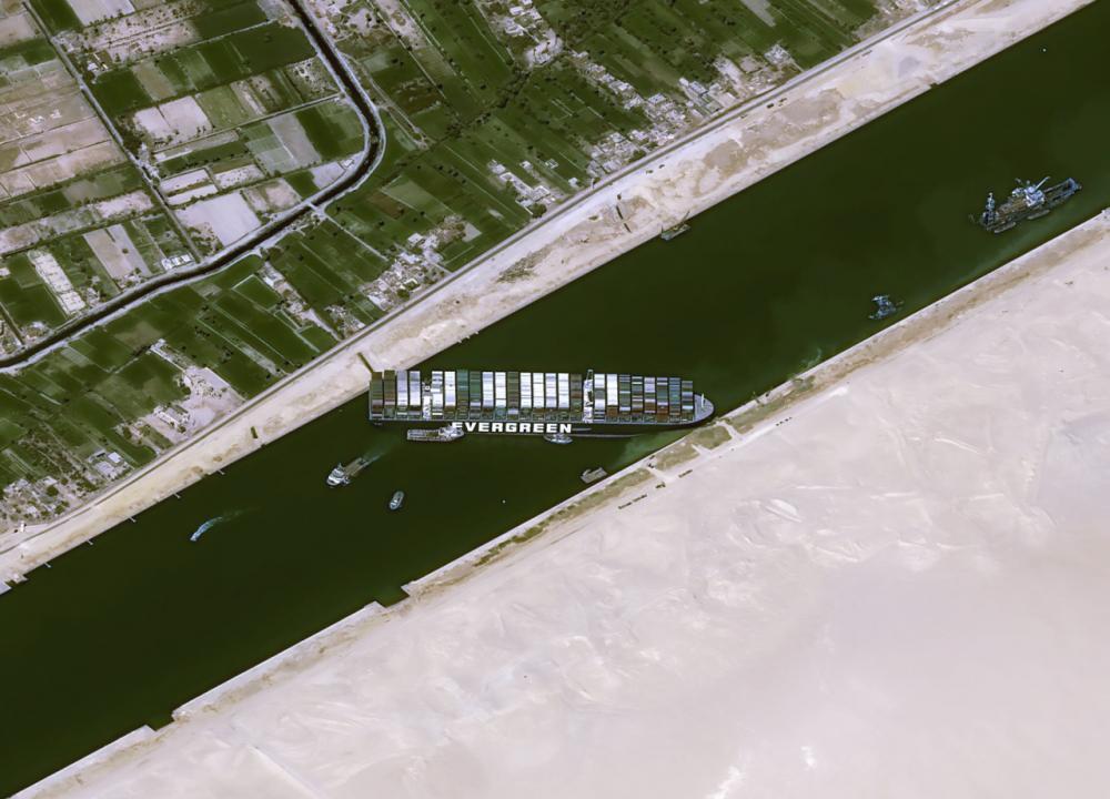 เรือสินค้า Ever Given ประสบเหตุขวางคลองสุเอซ ที่อียิปต์ ตั้งแต่เมื่อ 23 มี.ค.64