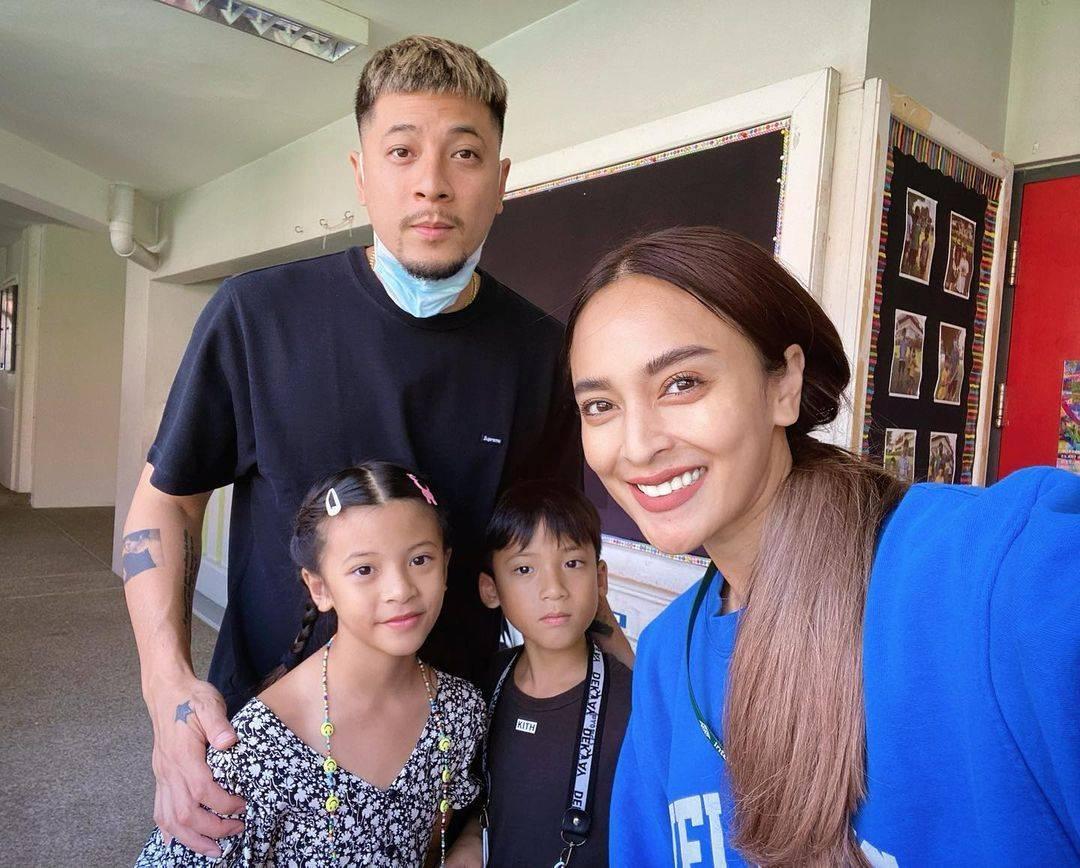 เวย์-นานา และ น้องบีน่า-น้องบรู๊คลิน ขอบคุณภาพจากไอจี @nanarybena