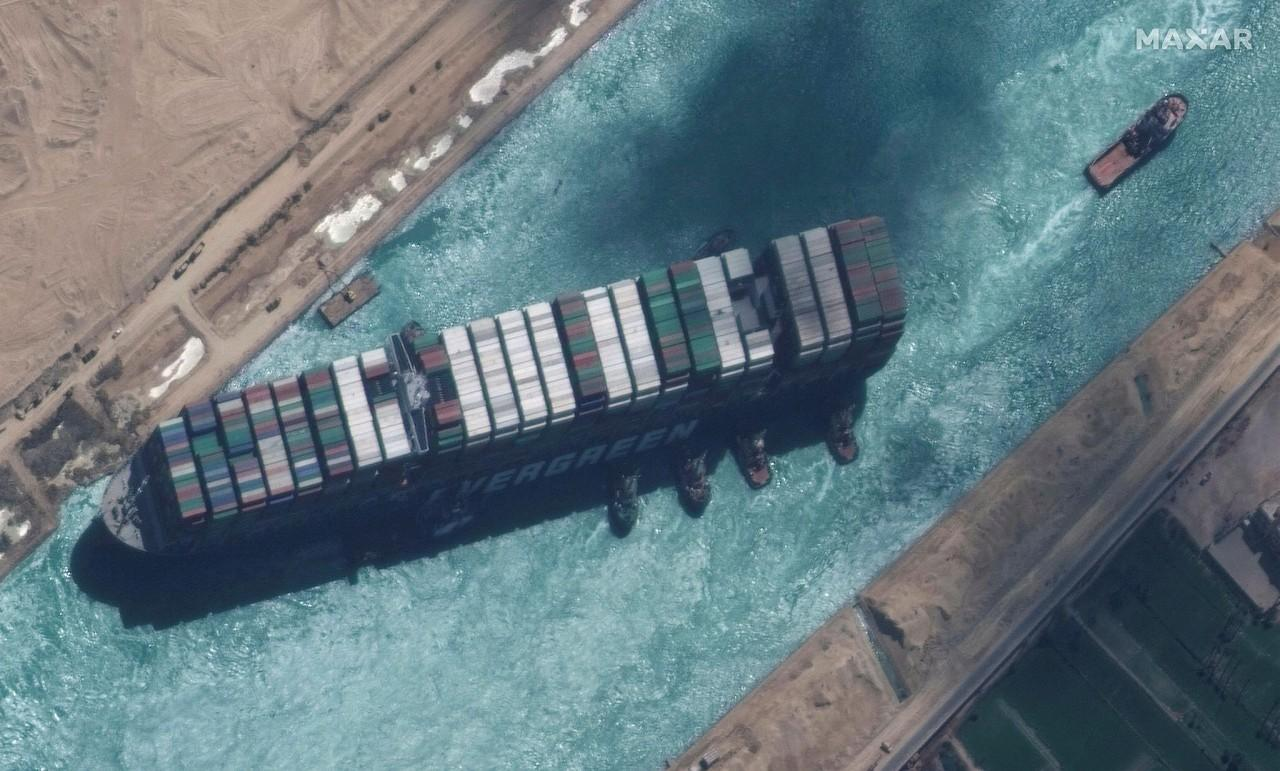 Photo by -/ Satellite image ฉ2021 Maxar Technologies / AFP