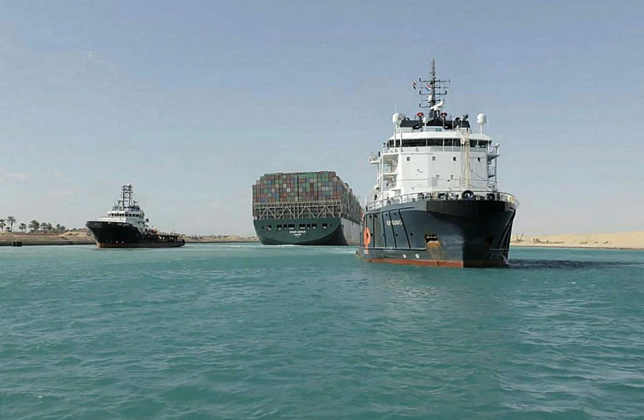 Photo by -/Suez Canal AUTHORITY / AFP