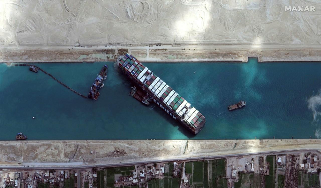 Photo by -/ Satellite image ฉ2021 Maxar Technologies