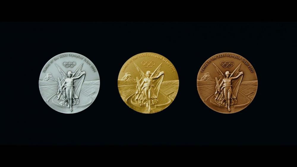 เหรียญการแข่งขันผลิตจากอุปกรณ์รีไซเคิล