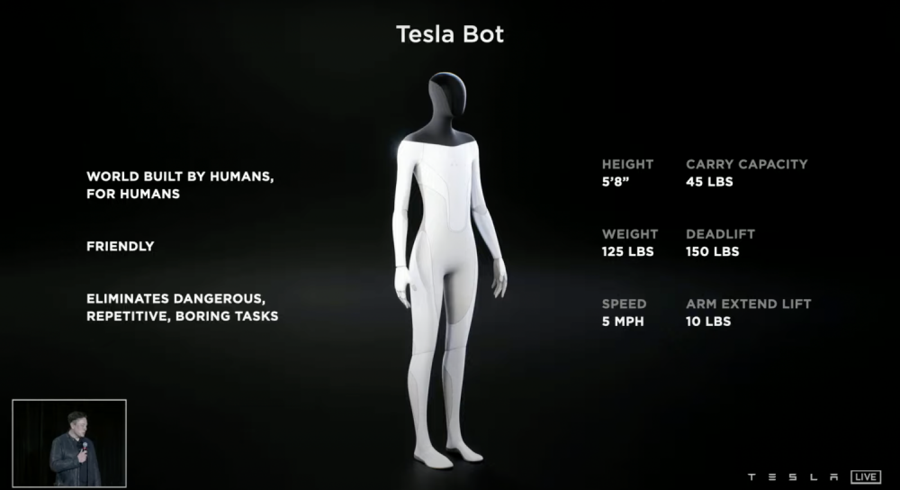 ข้อมูล Tesla Bot
