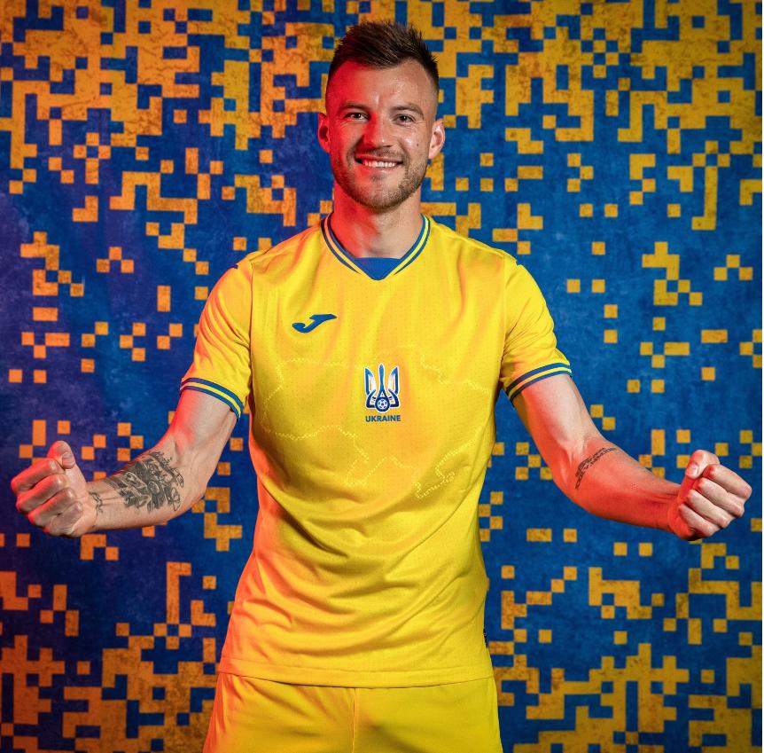 เสื้อทีมชาติยูเครนที่กลายเป็นประเด็นทางการเมือง